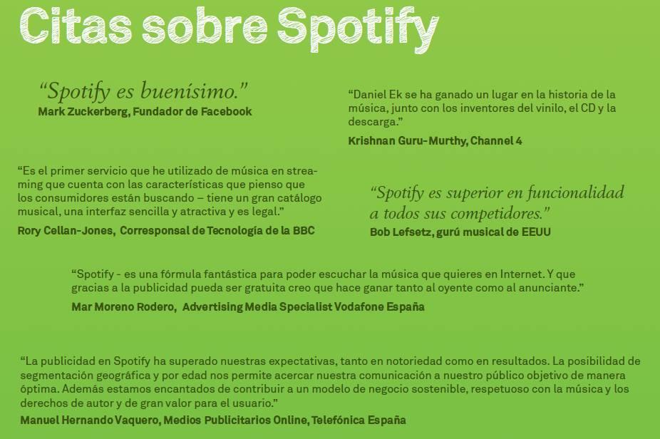 Spotify citas