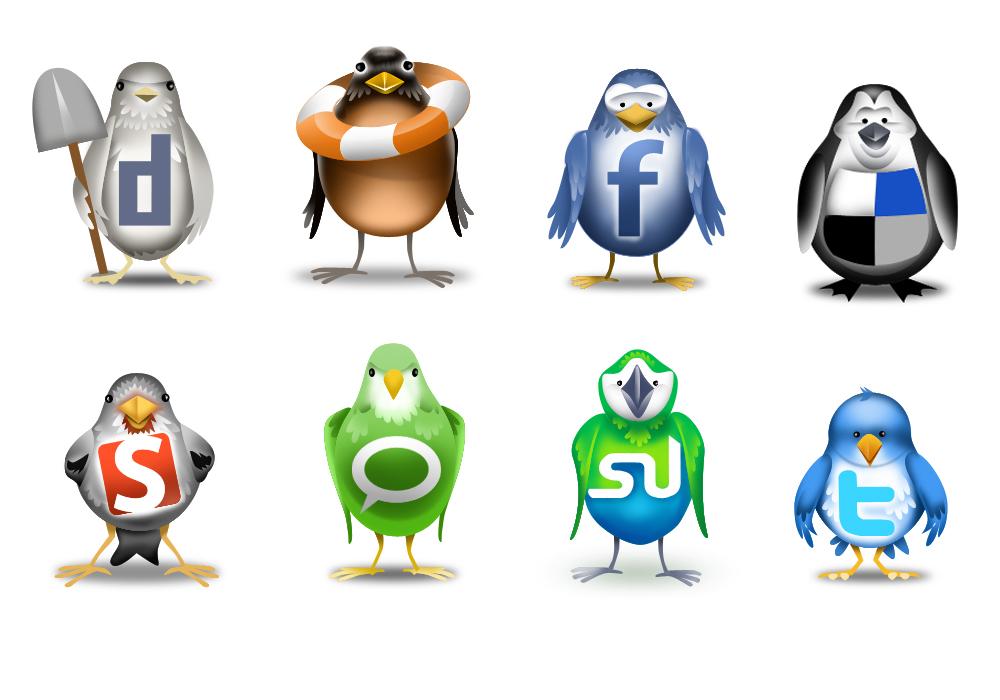 redes-sociales pajaros